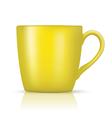 yellow big cup vector image vector image