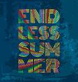 Endless Summer Artwork for wear in custom colors vector image
