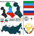 Map of Republic of Dagestan vector image