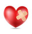 plastered Heart vector image
