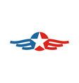 America USA logo icon vector image
