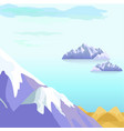 beautiful landscape with icebergs in sea vector image