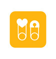 children safety pin flat color icon baby items vector image
