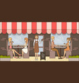 coffee time concept in flat vector image