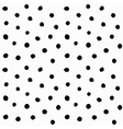 Hand drawn small polka dots vector image