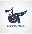 pancreatic cancer icon design vector image