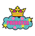 princess fashion embroidery patch vector image