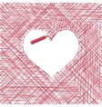 Template for Valentine Cards vector image