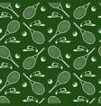 tennis equipment-seamless texture vector image