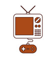 tv with video game control vector image