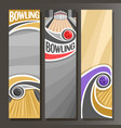 vertical banners for bowling vector image