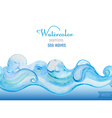 watercolor background Horizontal seamless patter vector image