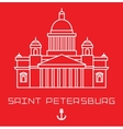 Saint Isaac Cathedral in Saint Petersburg Russia vector image