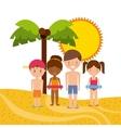 summer holidays enjoy icon vector image