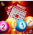 New Years bingo balls background vector image vector image