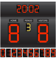 Match score board vector image vector image