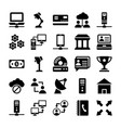 network and communication icons 9 vector image