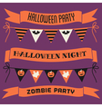 halloween banners and bunting collection vector image vector image