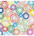 colorful gears vector image vector image