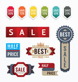 Sale tags banners set Design concept vector image vector image