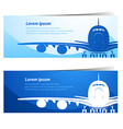 Airplane background2 vector image