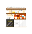Kitchen flat style vector image