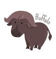 African buffalo Child fun pattern icon vector image