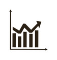 business graph and chart statistics financial vector image