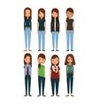 cartoon young womens vector image