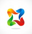 circle 3D shape colorful abstract logo vector image