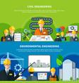 Civil engineering banners set vector image