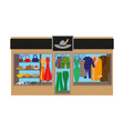 fashion clothing store banner with shop interior vector image