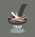 Foot Stepped On Trap vector image
