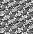 Gray diagonal wavy texture with gradient vector image
