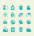 hygiene and cleaning icons washing antiseptic vector image