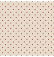 Red vintage polka dot seamless pattern on fabric vector image