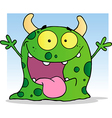 Happy Little Monster Cartoon Character vector image vector image