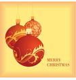golden christmas card 4 vector image vector image