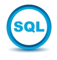 Blue sql icon vector image vector image
