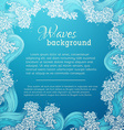 square waves background vector image