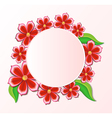 background with beautiful paper-cut flowers Floral vector image vector image