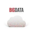 big data cloud icon with shadows vector image