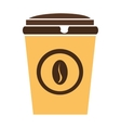colorful coffee cup graphic vector image