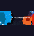 facial recognition dots in face show how machine vector image