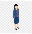 Female singaporean isometric icon vector image
