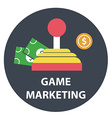 Game marketing and monetizing vector image