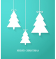 Hanging paper Christmas tree vector image