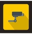 Surveillance camera icon flat style vector image