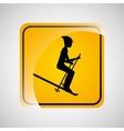 ski person sign sport extreme design vector image
