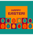 Easter card with egg pattern vector image vector image